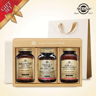 (시니어남성건강세트) 솔로바이트+오메가3 700 (60캡슐)+에스터C1000 (90정)