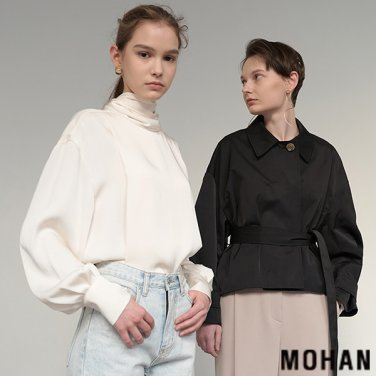 [모한] MOHAN TTS SCARF COLLAR BLOUSE _ 2 COLOR (MHTTSSH003)
