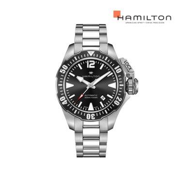 H77605135 카키 프로그맨 42mm 블랙 메탈 남성 시계