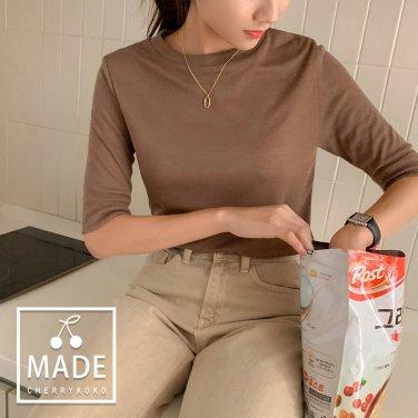 샤인 심플리 티셔츠(C905MATE5)/5부기장/심플/베이직(I2-6-3)