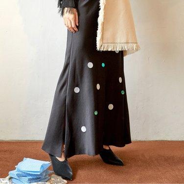 Benjamin Round Spangle Skirt_Black (JC19FWSK07BK)