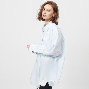 여 코튼 포플린 오버핏 셔츠 349507