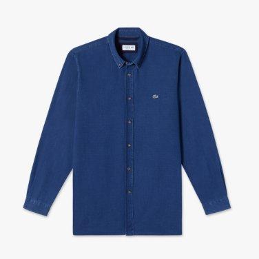 포플린 인디고 셔츠 (CH7086-19A_KR217)