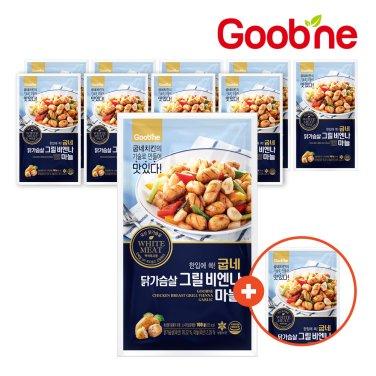 굽네 닭가슴살 비엔나 마늘 100g 10+1팩_JI64