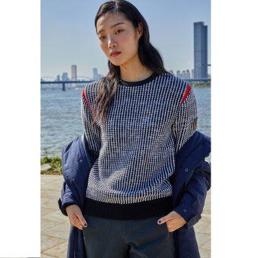여성 벌키 라운드 스웨터 (JKTBW18622BLK)