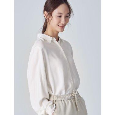 여성 아이보리 소프트 솔리드 셔츠 (158X64WY10)