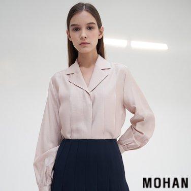 [모한] MOHAN TTS TUCK COLLAR SILKY BLOUSE _ 2 COLOR (MHTTSSH002)