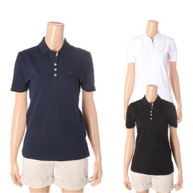 여성 면혼방 폴로 반소매 티셔츠 TUMT1KTE01A0