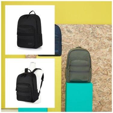 백팩 AZ001036 블랙 PLUME BASIC 세상 가벼운 더블 포켓 남여공용 가방