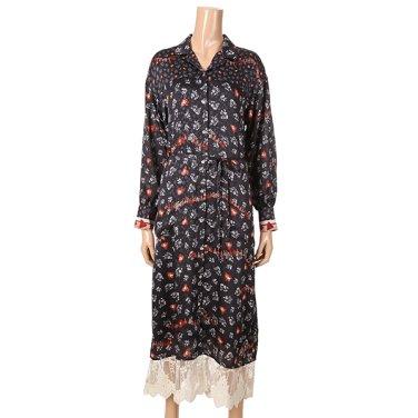 [여성]패턴물 셔츠형 원피스 (T192MOP149W)