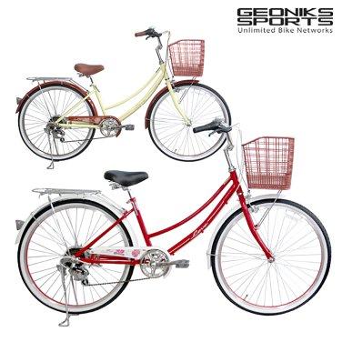 리브 26 LEVE 지오닉스 7단 스틸 여성 자전거 (미조립박스)