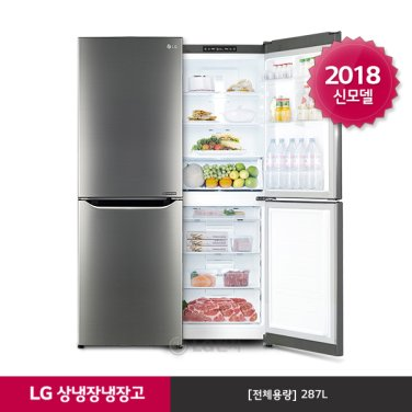 LG 유러피안 상냉장 냉장고 M287SBM (287L/샤인)