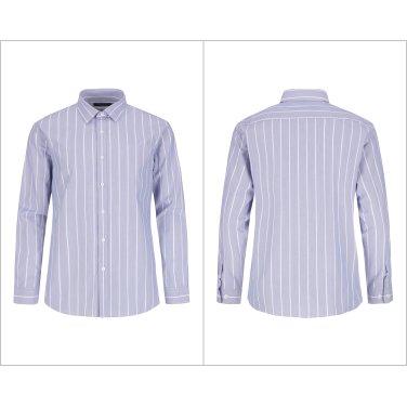 블루 레귤러카라 멀티스트라이프 패턴의 캐주얼셔츠 VRZ1WC1133-BL-IS