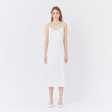 19SS MIDI SLIP DRESS - WHITE