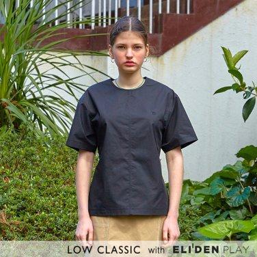 [로우클래식] 19 SUMMER LOCLE _ back snap blouse black (Z3LCI5BL101)