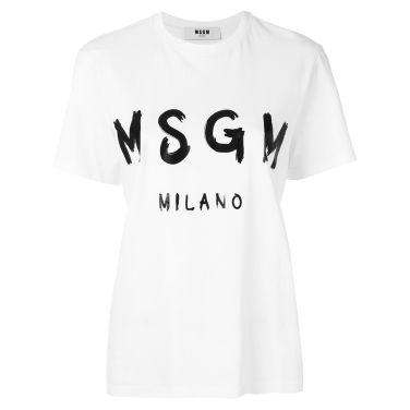 20SS MSGM 로고 티셔츠 화이트 여성 2841MDM60WH