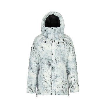 [쇼핑백증정]여성 EXPERT 설산 프린트 후드 다운자켓(벨마운트)JKJDW18234LGY