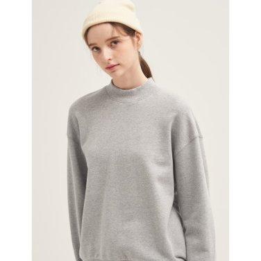 [GREEN BEANPOLE] 그레이 백 프린트 볼륨 소매 스웨트 셔츠 (BF9941N013)