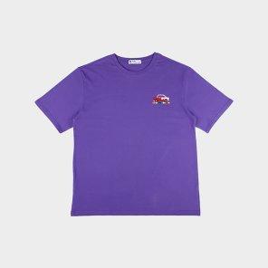 [하이레졸루션] 픽셀 자동차 티셔츠 - PURPLE