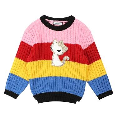 프렌치캣 멀티 ST 스웨터 Q95DBW051B