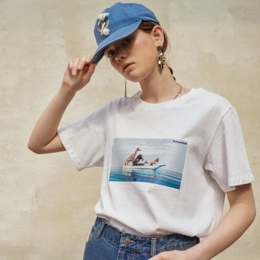시네마틱 프린트 티셔츠 (OBFTS005AWHL)