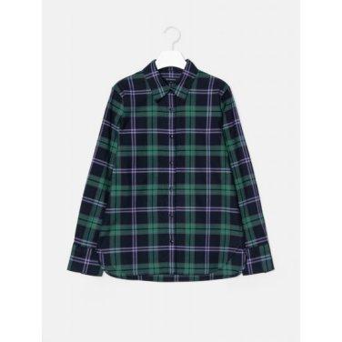 [GREEN BEANPOLE] 그린 체크 브러시드 A라인 셔츠 (BF9964N01M)