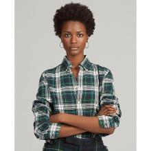 폴로 랄프 로렌 여성 클래식 핏 플래드 코튼 셔츠(WMPOSHTN6820079300)