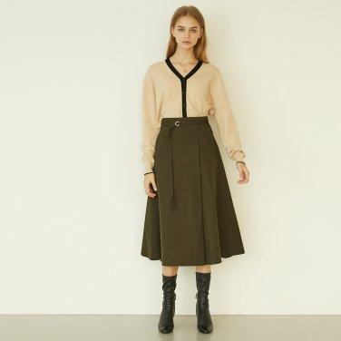P Tuck Flare Skirt_KK