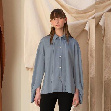Riga Satin Shirt [Blue Grey] (JC19SSSH04_BG)