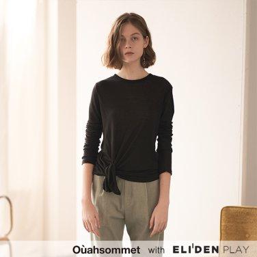 [우아솜메] Ouahsommet SOFT SLIT TOP [BLACK] (OBBTS004A)