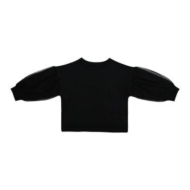 망사 퍼프 티셔츠