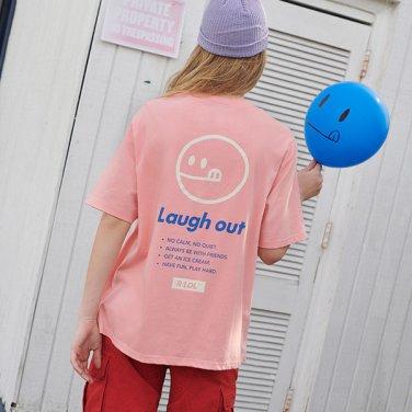 [RLOL] (TS-19305) RLOL SMILE T-SHIRT PINK