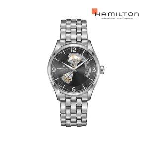 H32705181 재즈마스터 오픈하트 오토 42mm 그레이 메탈 남성 시계