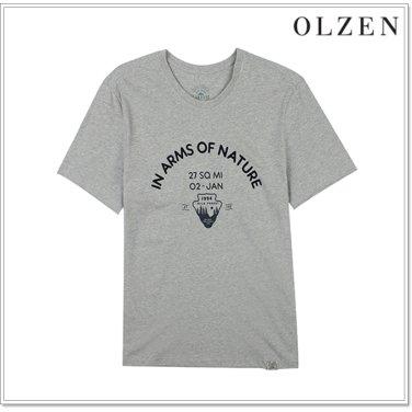 올젠 캠핑 그래픽 티셔츠 ZAX3TR1173