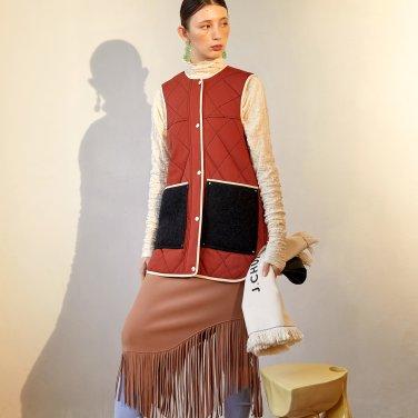 Kaily Fringe Skirt_Rose Camel (JC19FW2KailSKRC)