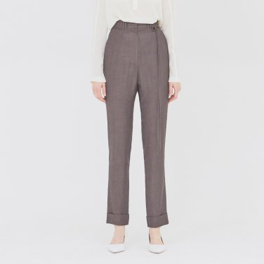 19SS STRAIGHT-FIT CUFFED TROUSERS - DARK BROWN
