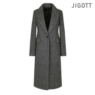 테일러드 헤링본 울 코트 JIAE0CT31