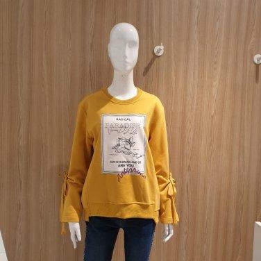 프린팅 리본소매 티셔츠 VVALT20-EL