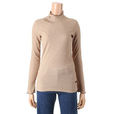 [여성]하이넥 슬림 골지 티셔츠(T186MTS131W)