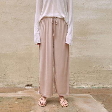AGAIN BANDING PANTS_BEIGE