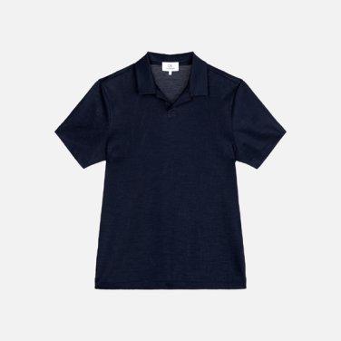 남성 린넨혼방 베이직 솔리드 피케 티셔츠 VMMT1KP080L0B60