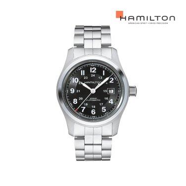 H70515137 카키 필드 오토 42mm 블랙 메탈 남성 시계