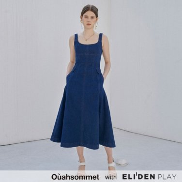 [우아솜메][전혜빈,정인선,안젤리나다닐로바 착용 SLIM-FIT DENIM DRESS (OBFDO001A)