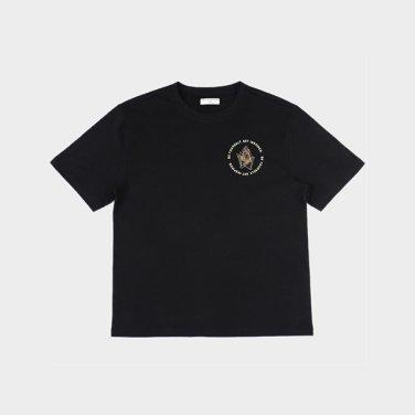 부다 프린트 반팔 티셔츠 - BLACK