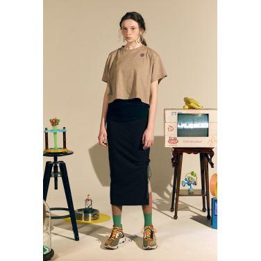 [테이즈] Mido H-Line Skirt_Navy