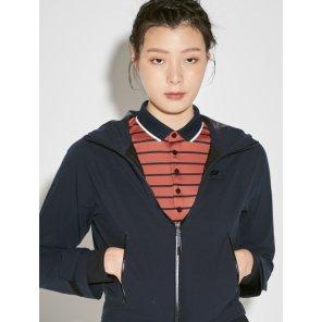 네이비 여성 심리스 배색 방수 재킷 (BO8839E02R)