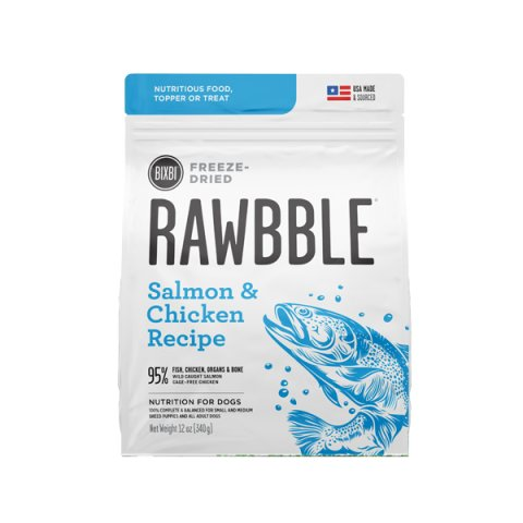 빅스비 러블 동결건조 사료 연어&치킨 340g (RAWBBLE)