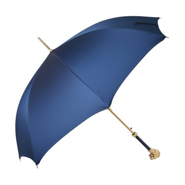 맨럭셔리 블루 패브릭 골드 라이온 핸들 1단 자동 우산 MX6O8W37PB
