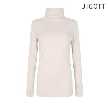 슬림핏 하이넥 티셔츠 JIBE0TS07