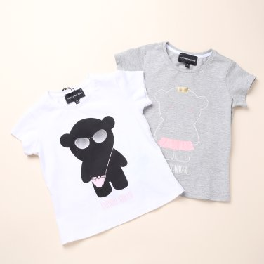화이트,그레이세트 티셔츠(0429160001-EL)